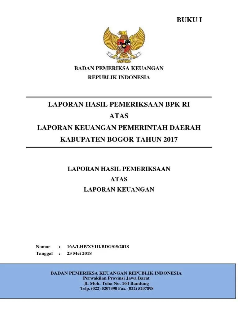 Bkd Kab Bogor : bogor, A.2.170-LKPD-Kab-Bogor-2017-1.pdf