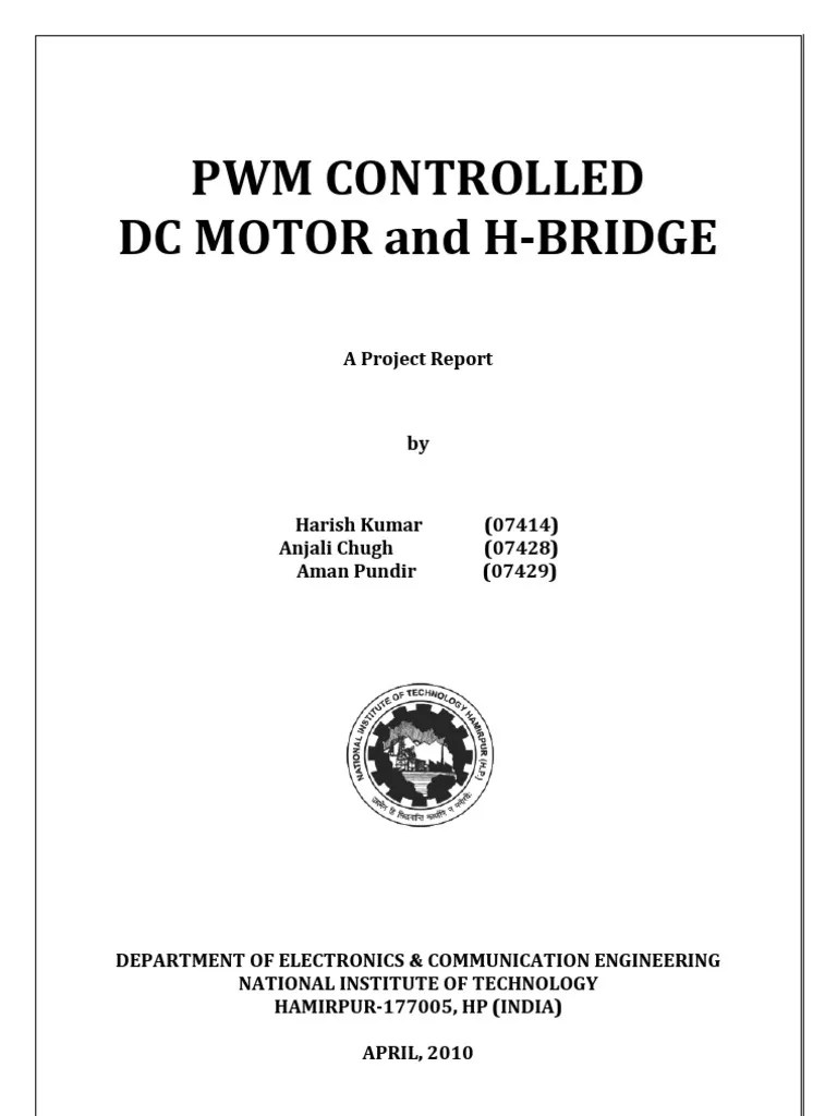 hight resolution of pulse width modulation controlled dc motor and h bridge mosfet capacitor