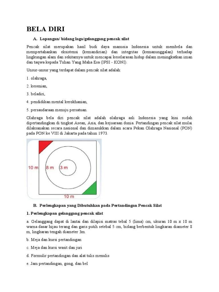 Bidang Laga Untuk Pertandingan Pencak Silat Berukuran : bidang, untuk, pertandingan, pencak, silat, berukuran