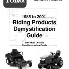 Wheel Horse Wiring Diagram Electron Dot Magnesium Toro Wheelhorse Demystification Electical Diagrams For All Tractors Alternating Current Inductor