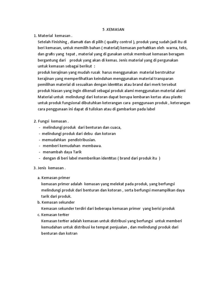 Kemasan Yang Berisi Beberapa Kemasan Primer Disebut : kemasan, berisi, beberapa, primer, disebut, Materi-kemasan