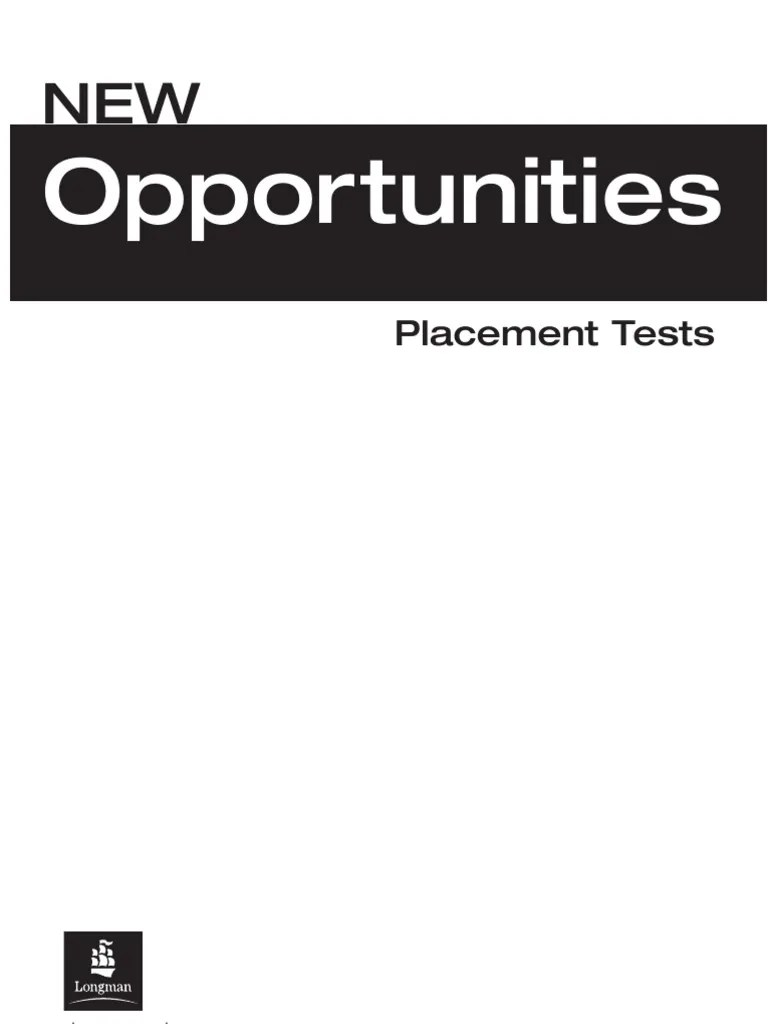 New_Opportunities_Placement_Test