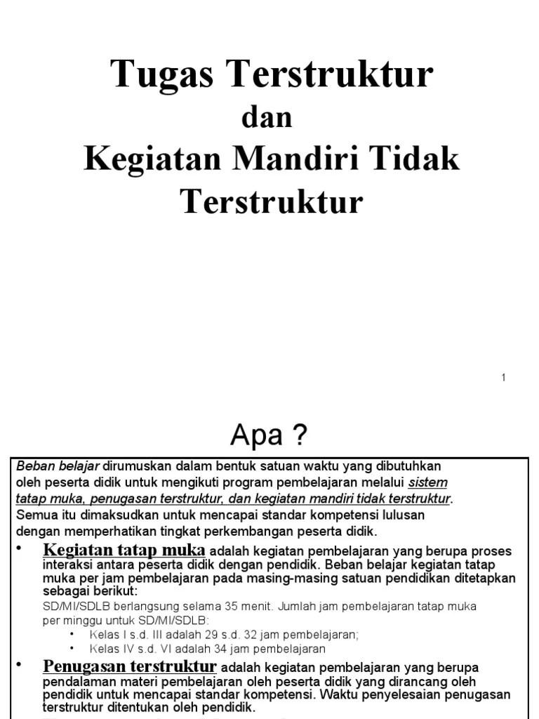 Format Tugas Terstruktur Dan Tidak Terstruktur Sd : format, tugas, terstruktur, tidak, Tugas, Terstruktur, Kegiatan, Mandiri, Tidak