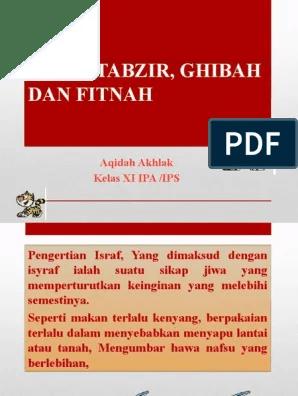 Pengertian Israf Dan Tabzir : pengertian, israf, tabzir, ISYRAF,, TABZIR,, GHIBAH.pptx