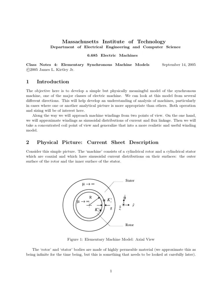 elementary synchronous machine electrical engineering electromagnetism [ 768 x 1024 Pixel ]