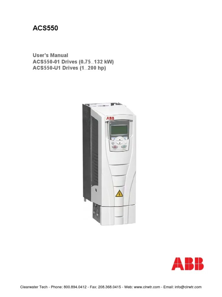 ABB ACS550 Users Guide Cable Electrical Wiring
