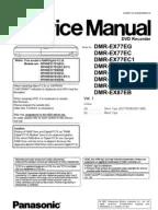Panasonic DMR-EX77 EX87 Service Manual
