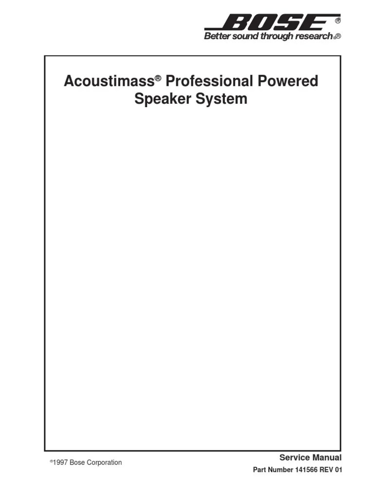bose acoustimass professional service manual amplifier electrostatic discharge [ 768 x 1024 Pixel ]
