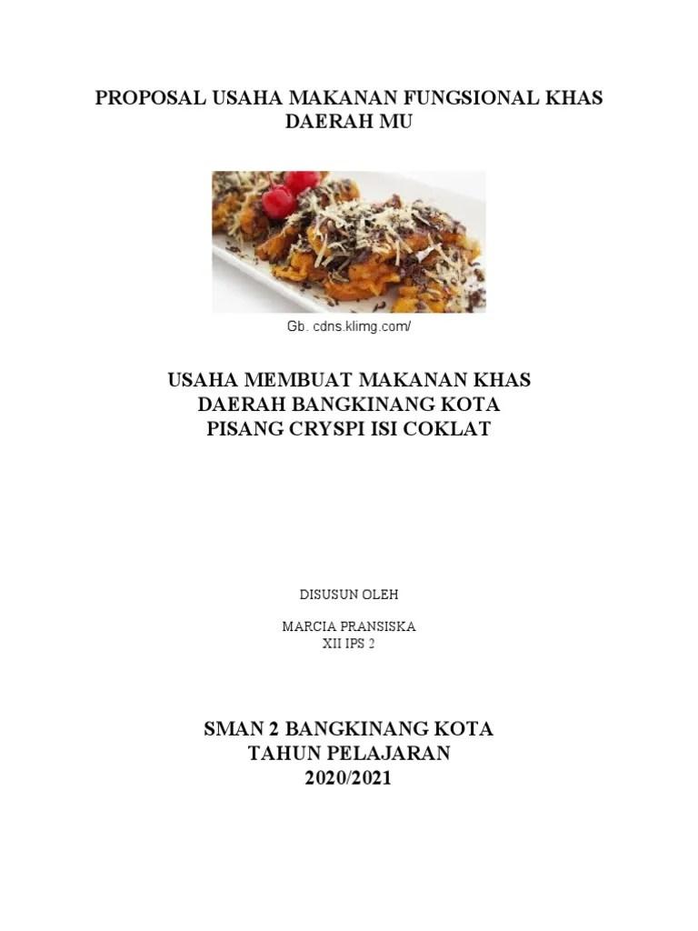 06/09/2021· bika ambon merupakan makanan khas dari daerah medan, sumatra utara. Proposal Usaha Makanan Fungsional Khas Daerah Mu