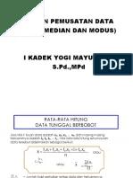 Mean Data Tunggal : tunggal, TUNGGAL