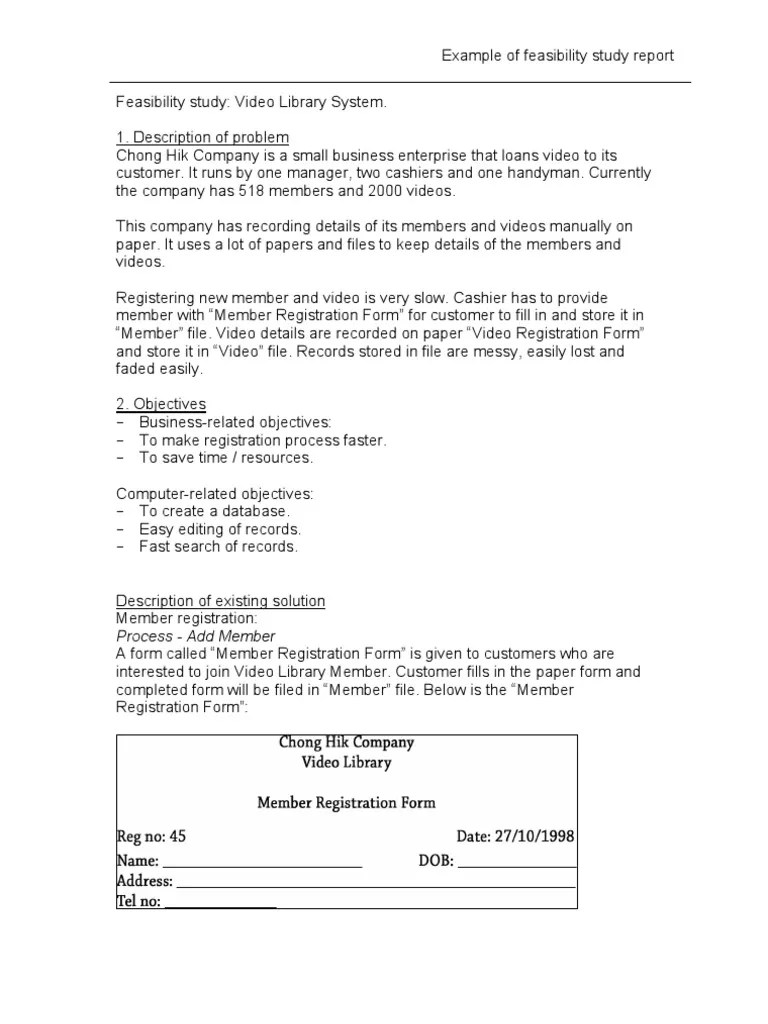 Essay Report Example Example Of Feasibility Report Format Book