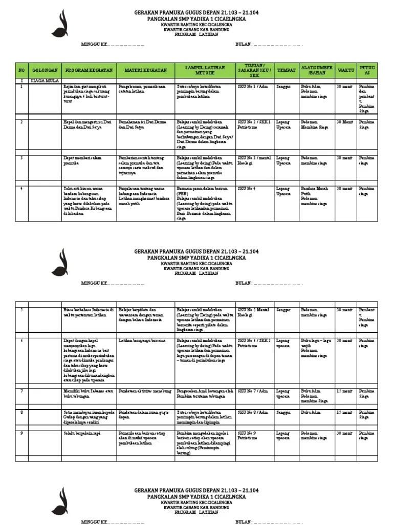 Program Pramuka Siaga Sd Lengkap : program, pramuka, siaga, lengkap, Agenda, Latihan, Kumplit