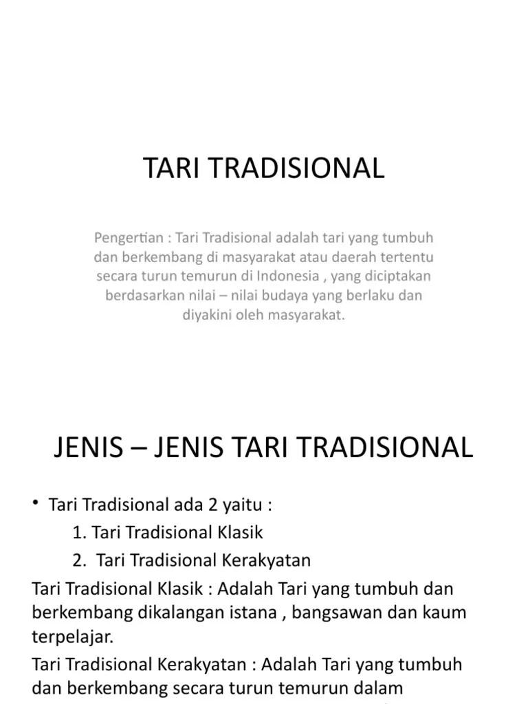 Pengertian Tari Tradisional dan Contoh Tari Tradisional