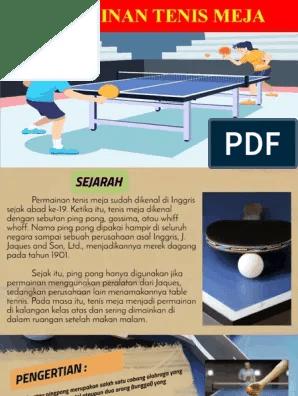 Asal Tenis Meja : tenis, PERMAINAN, TENIS