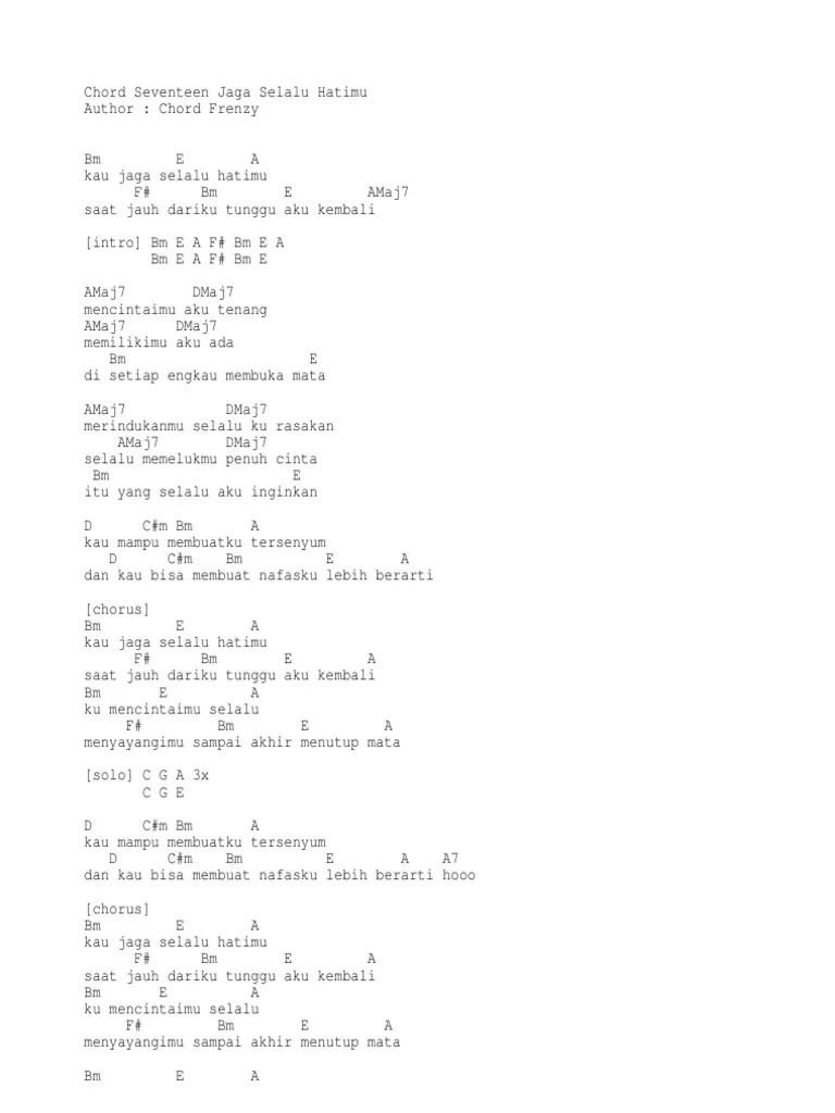Seventeen Jaga Selalu Hatimu Chord : seventeen, selalu, hatimu, chord, Desember, Chord