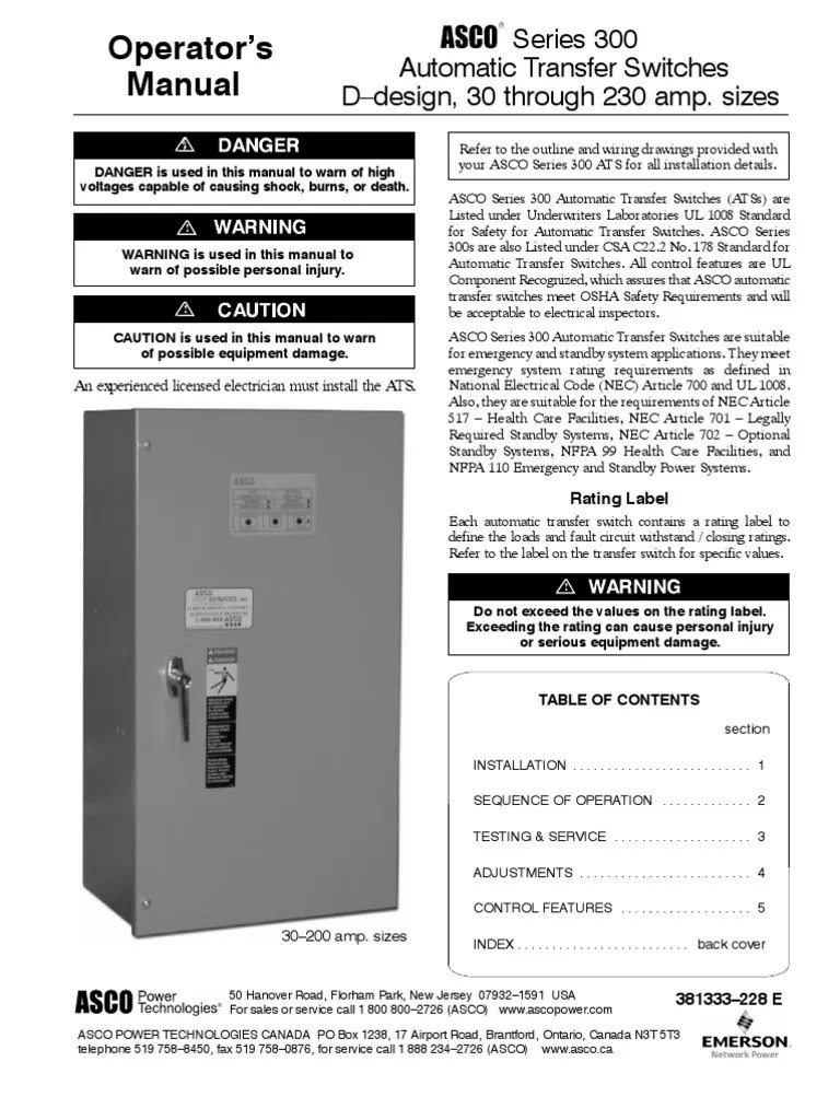 small resolution of asco 300 transfer switch wiring diagram