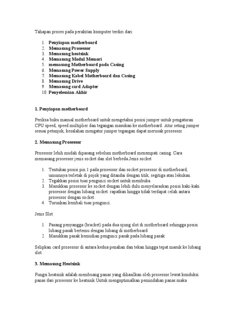 Fungsi Jumper Pada Motherboard : fungsi, jumper, motherboard, Penyiapan, Motherboard