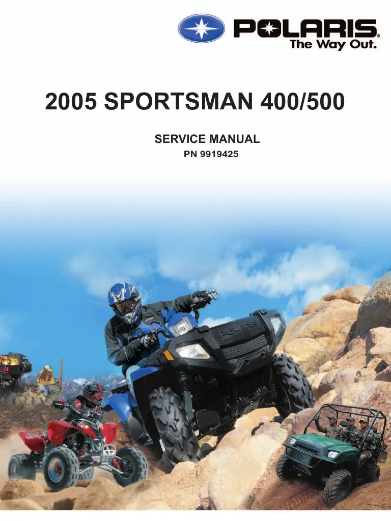 medium resolution of 2005 polaris sportsman 400 500 service manual nopw gallon vehicle parts