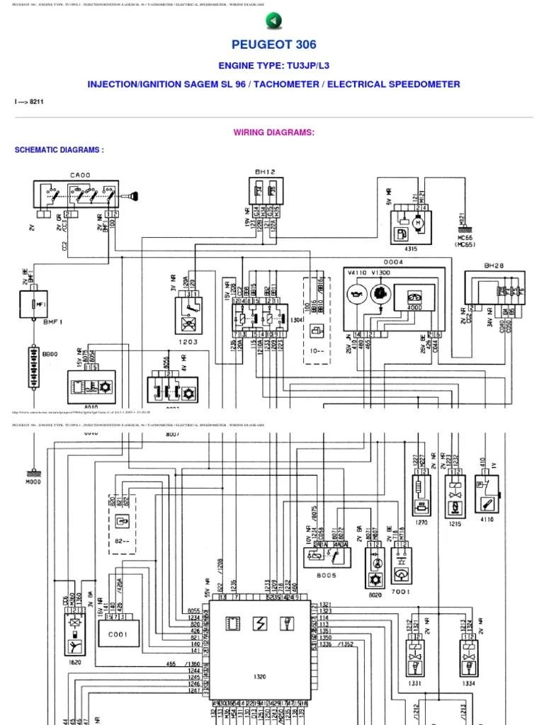 Peugeot 306 Wiring Diagrams