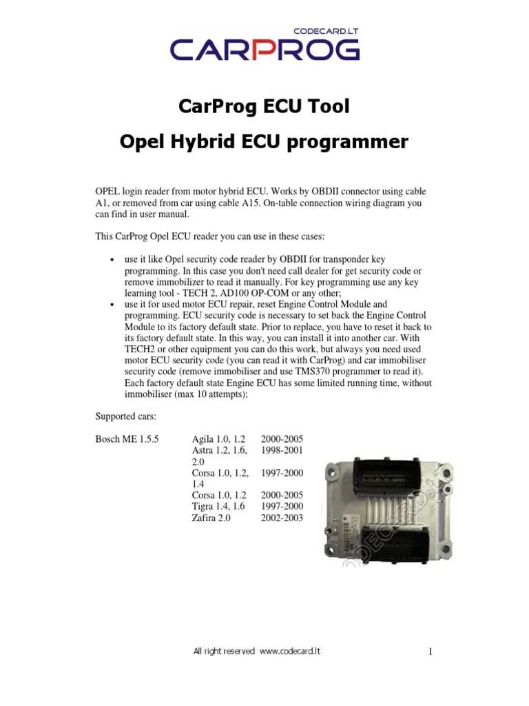 hight resolution of carprog opel ecu programmer user manual opel transportation engineering