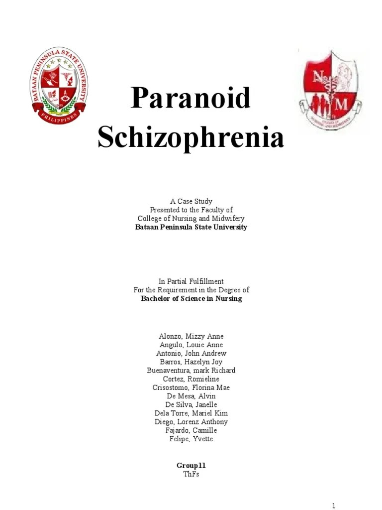 Essays On Paranoid Schizophrenia Research Paper Help