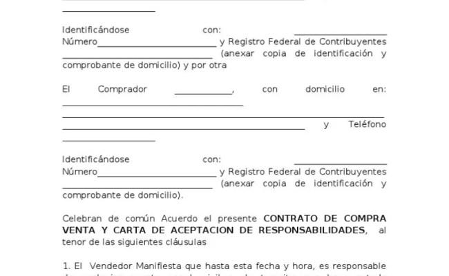 Contrato Compra Venta Y Carta Responsiva