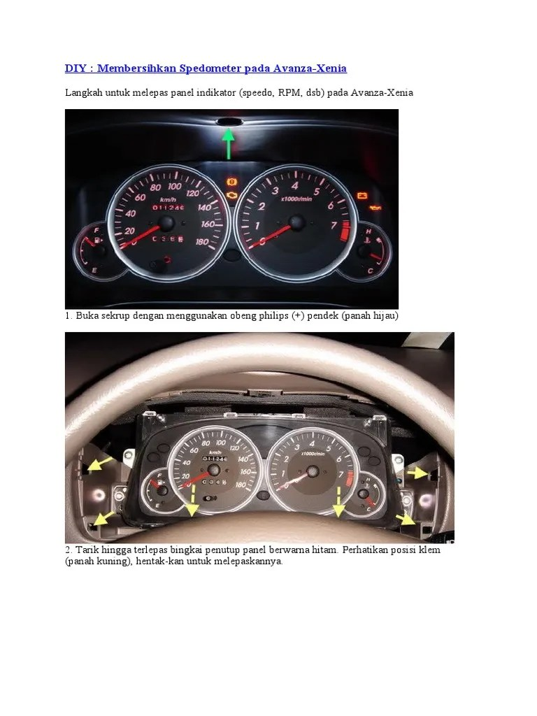speedometer grand new avanza all corolla altis 2020 membersihkan spedometer pada xenia