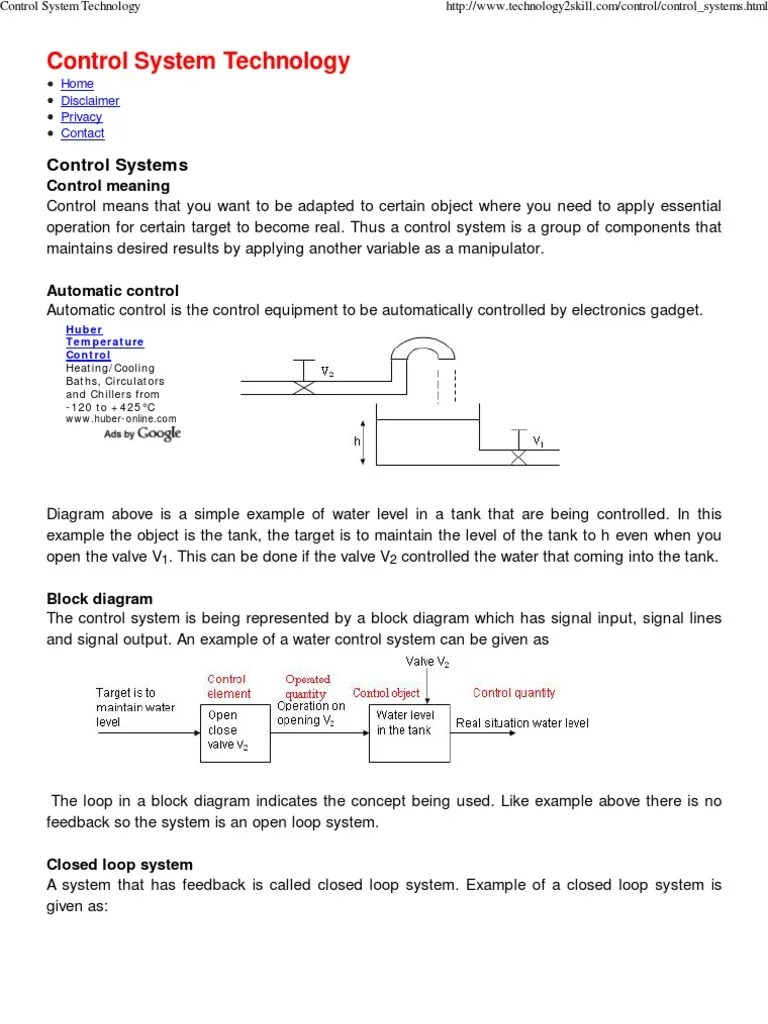 small resolution of block diagram examples control system