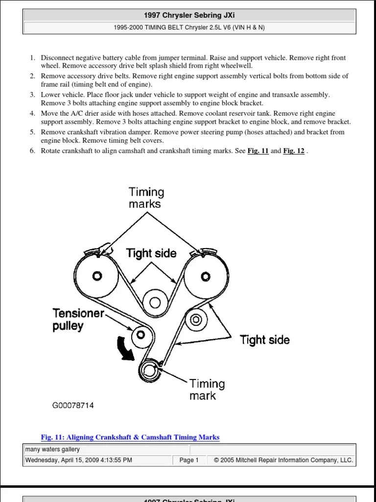 medium resolution of 2000 chrysler sebring belt diagram