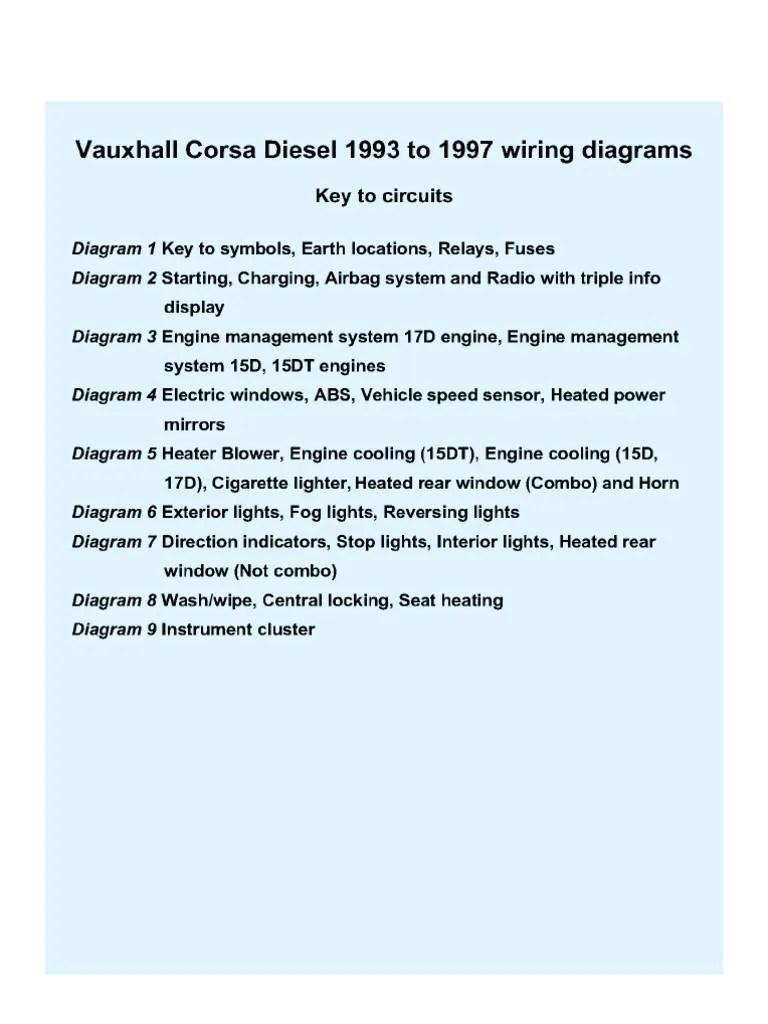 medium resolution of opel corsa bvauxhall corsa diesel wiring diagram 11