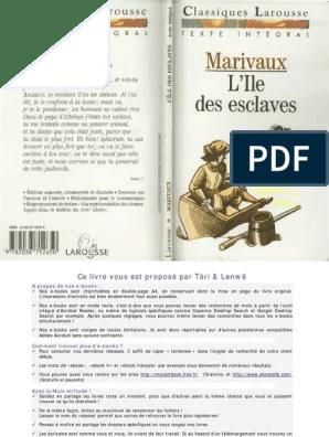 L'ile Des Esclaves Pdf : l'ile, esclaves, Esclaves, Texte, Intégral