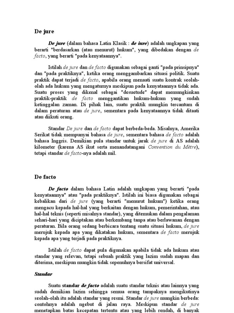 Pengakuan De Facto dan De Jure | Evo-Rare.com