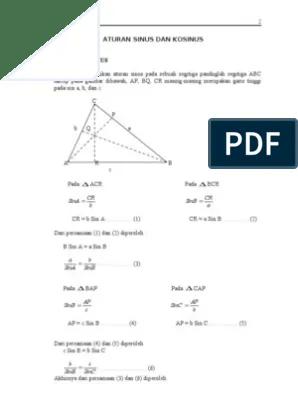 Rumus Aturan Sinus : rumus, aturan, sinus, 22818013, Aturan, Sinus, Kosinus