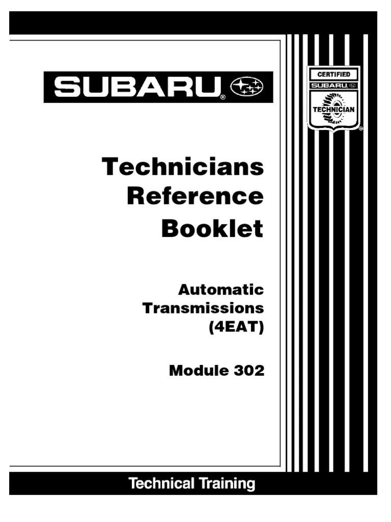 small resolution of  subaru automatic transmissions 4eat manual transmission transmission on subaru abs diagram subaru subaru eat legacy outback