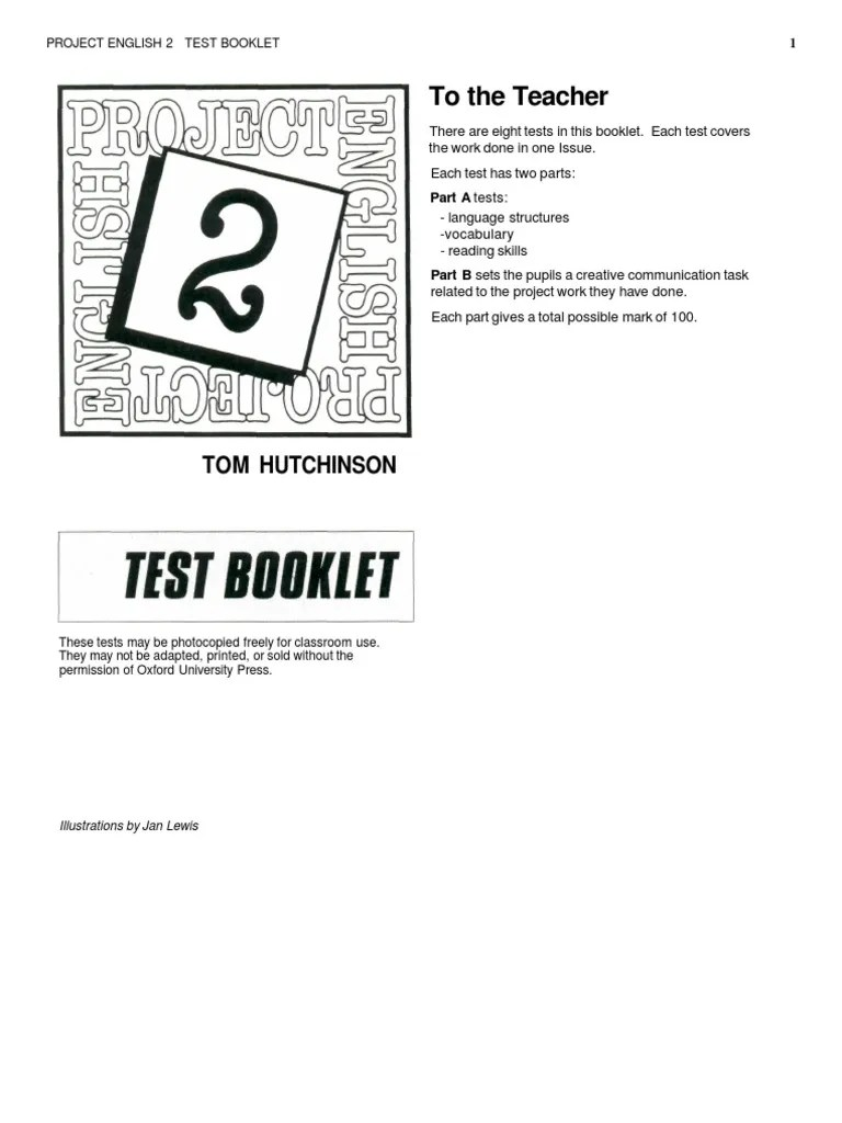 Project English 2 Test Book