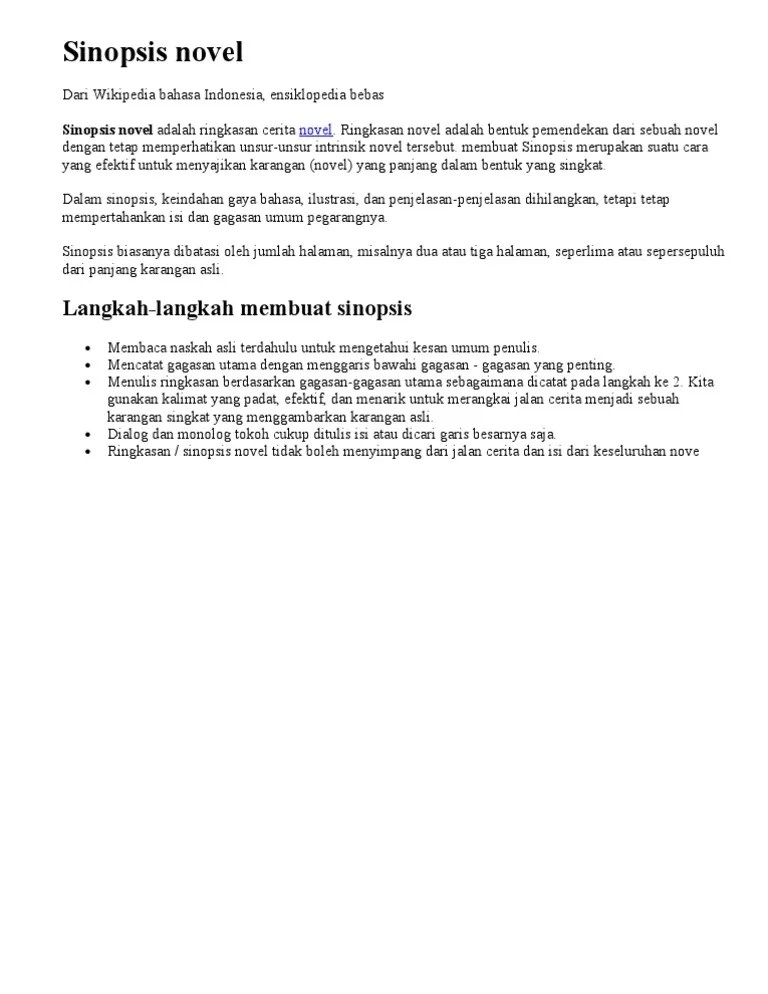 Cara Membuat Sinopsis Novel : membuat, sinopsis, novel, Membuat, Sinopsis, Novel