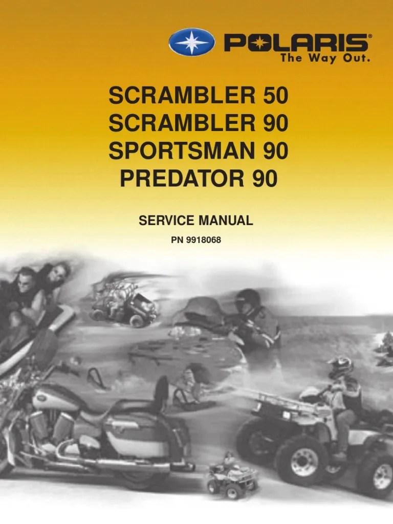 medium resolution of 2003 polaris scrambler 50 90 sportsman 90 predator 90 service manual 1 tire piston
