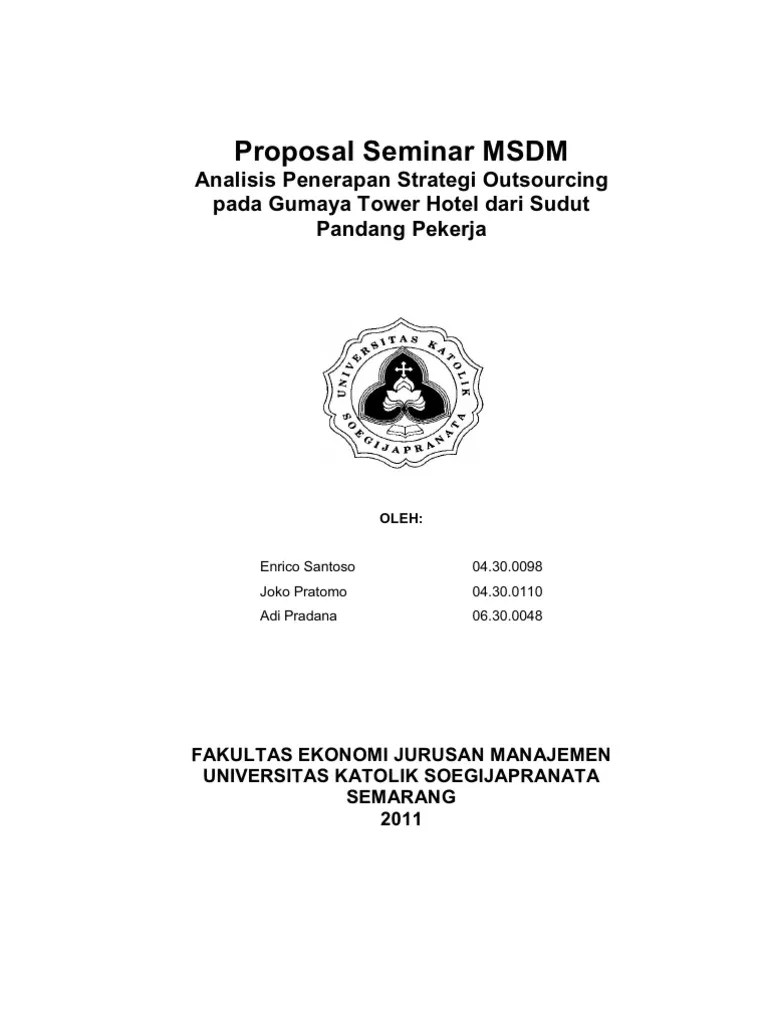 Contoh Proposal Skripsi Msdm Doc