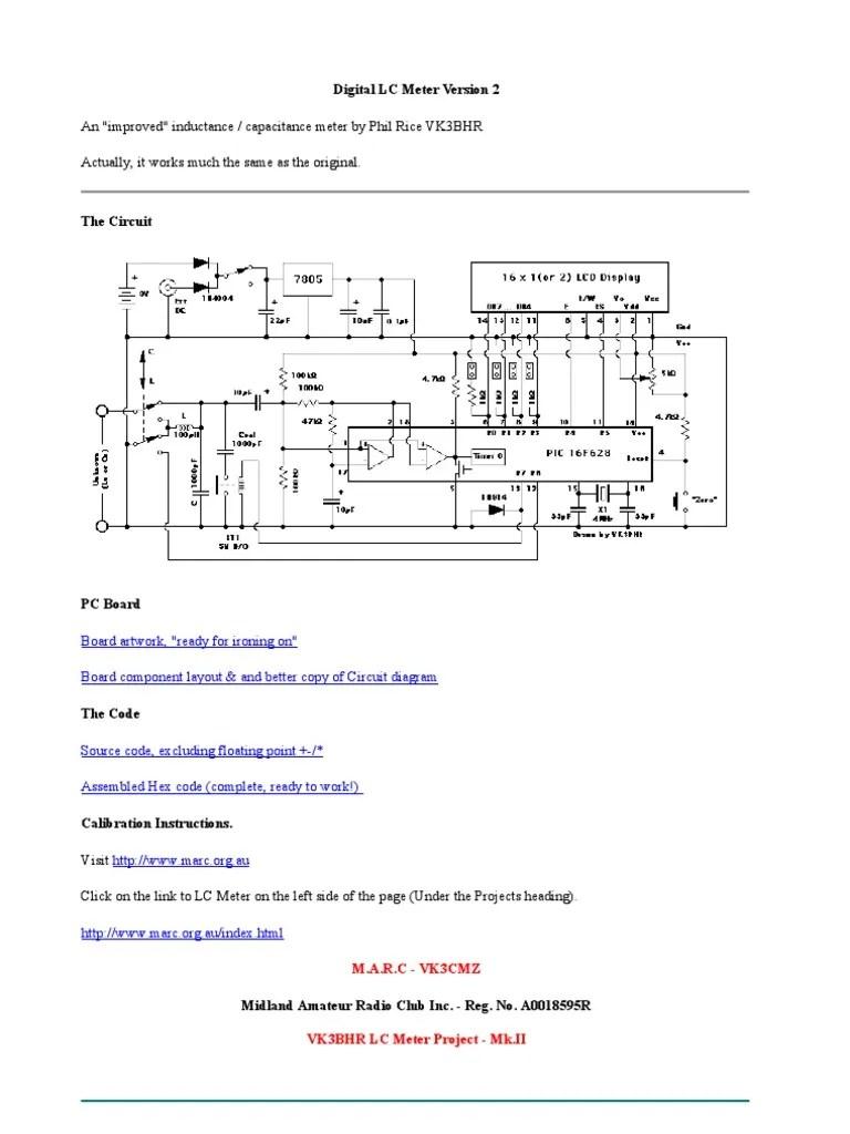 hight resolution of digital capacitor meter circuit diagram