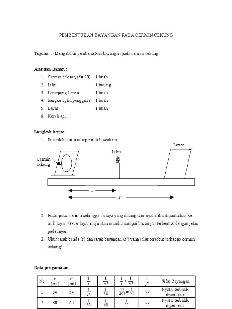 Laporan Praktikum Lensa Cembung : laporan, praktikum, lensa, cembung, Contoh, Laporan, Praktikum, Lensa, Cembung, Cekung, Seputar