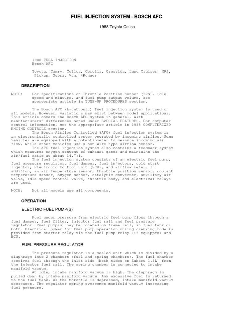 medium resolution of 1988 toyotum fuel system