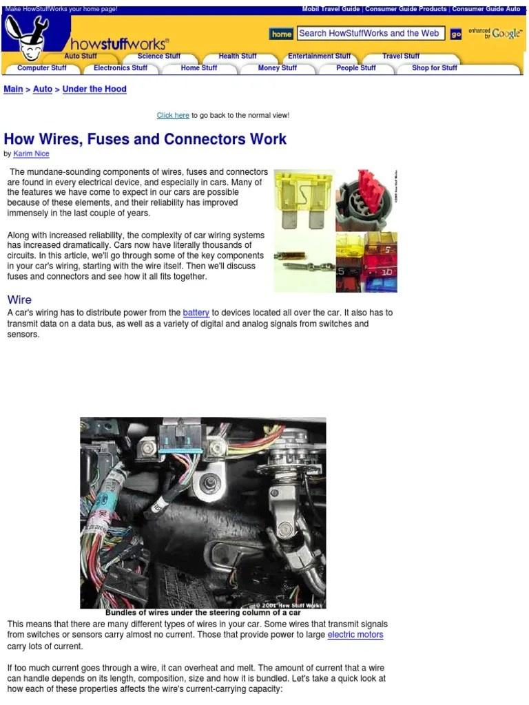 car wires fuses and connectors how they work electrical connector fuse electrical  [ 768 x 1024 Pixel ]