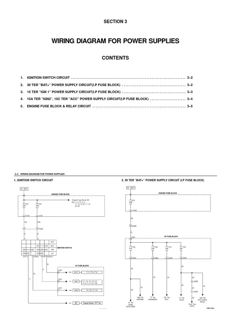 small resolution of daewoo lacetti wiring diagram pt 3en 4j2 3