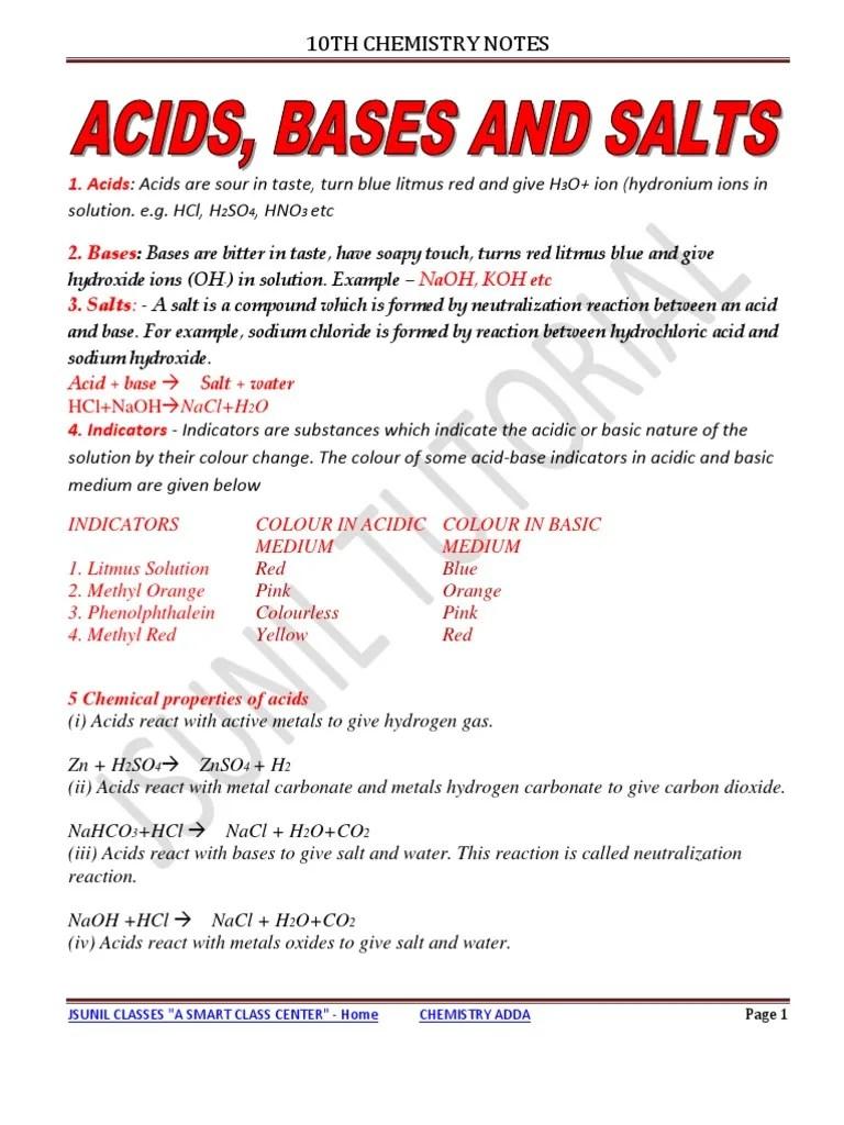 medium resolution of 10th Acid Base and Salt Notes 2011   Sodium Carbonate   Ph