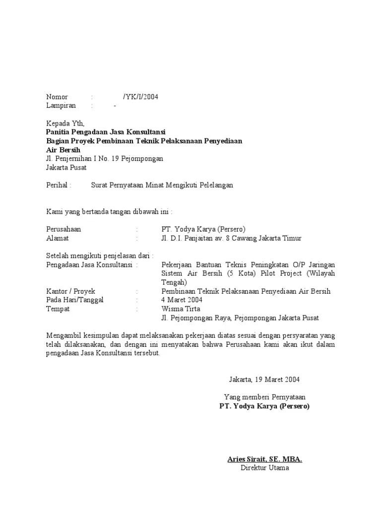 Tag: contoh surat pernyataan minat pekerjaan - Download