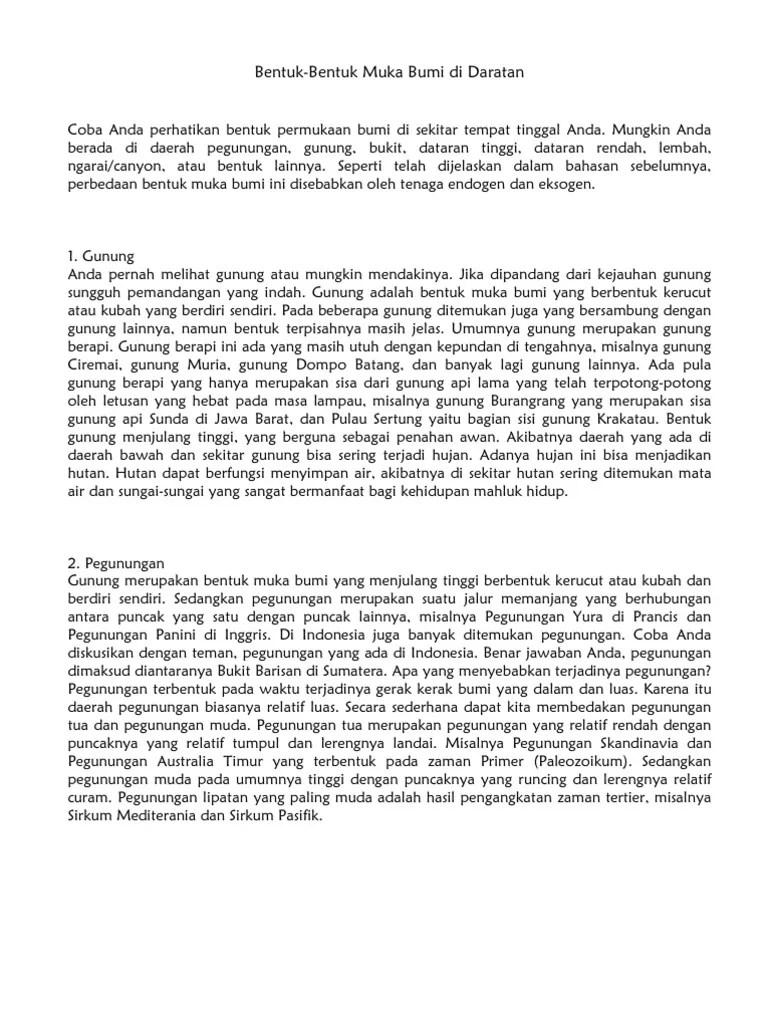 Relief Daratan dan Relief Dasar Laut (Bentuk-Bentuk Permukaann...)