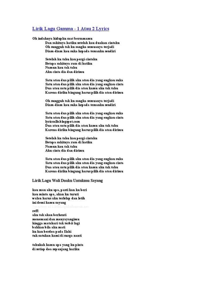 Wali Doaku Untukmu Sayang Lirik : doaku, untukmu, sayang, lirik, Lirik, Tuhan, Tolong