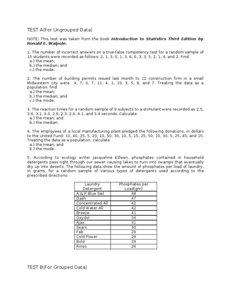 Measures Of Central Tendency Worksheet - Worksheet List [ 1024 x 768 Pixel ]