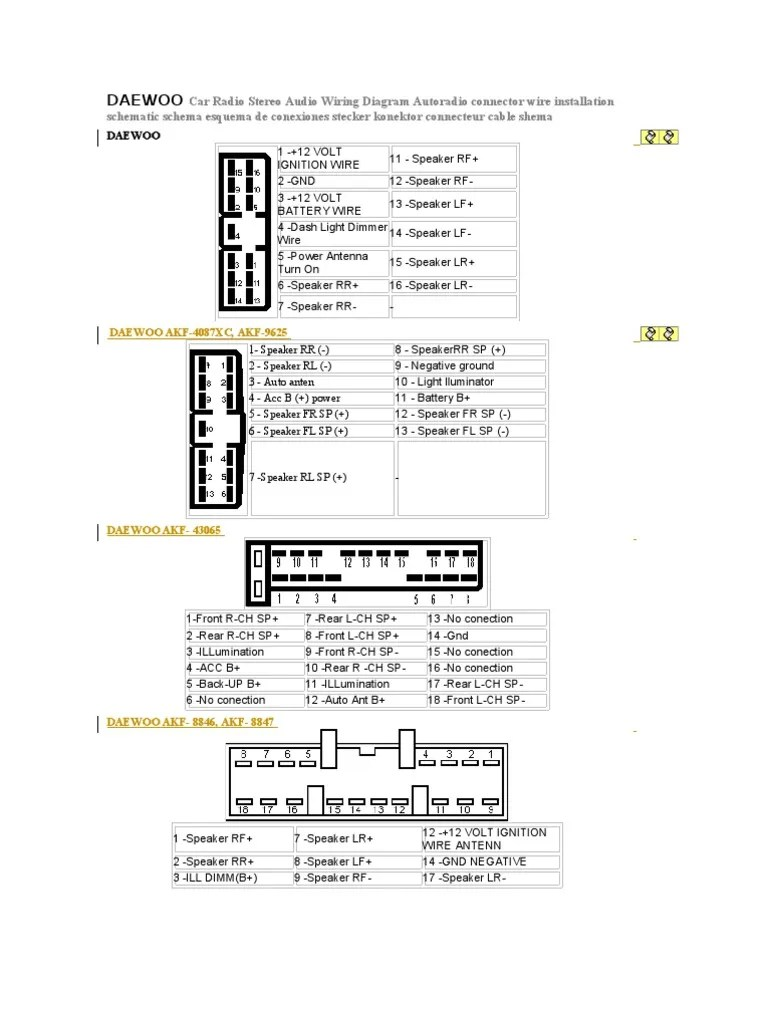 daewoo car radio stereo audio wiring diagram broadcasting telecommunications engineering [ 768 x 1024 Pixel ]