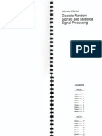 Solution Manual of Statistical Digital Signal Processing